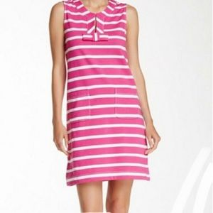 KATE SPADE pink and white striped sleeveless Dress